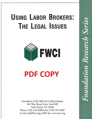 Using Labor Brokers: The Legal Issues (2004) - pdf - 130a