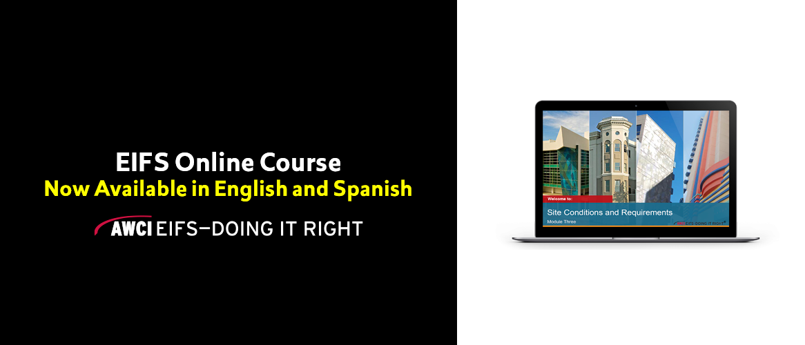 EIFS Online Course - Now available in English and Spanish