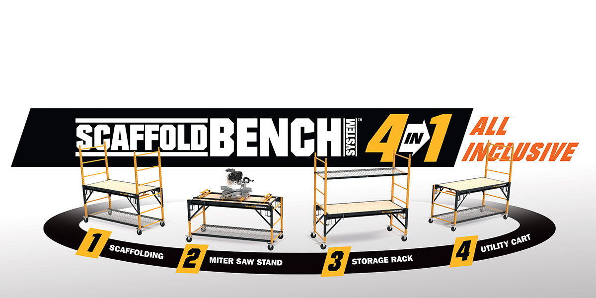 4-in-1 Scaffold Bench