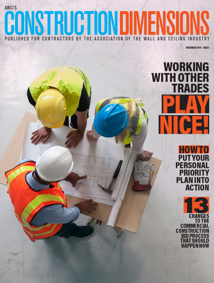 AWCI's Construction Dimensions magazine