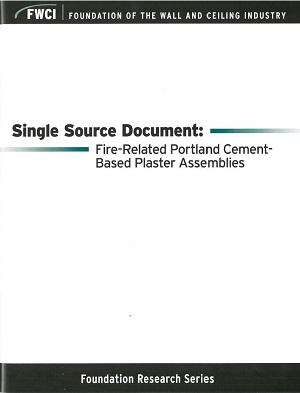 Single Source Doc. on Fire-Rated Portland Cement-Based Plaster Assemblies - 112
